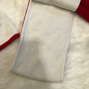 Aeropostale Accessories - Aeropostale White Red Knit Cat Hat & Scarf